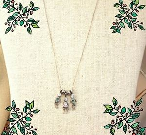 925 sterling silver Italy necklace & 3 pendants boy/girl vintage excellent gift
